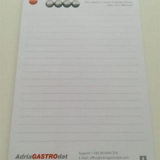 Blok za pisanje - adriagastro - ravne crte