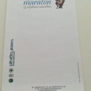 Blok za pisanje - maraton - kockice