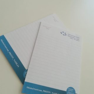 Blok za pisanje - protiv nasilja - ljepljeni