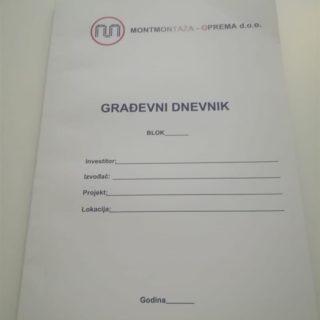 NCR radni nalog - građevni dnevnik - montmontaža