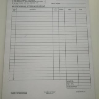 NCR radni nalog - segam