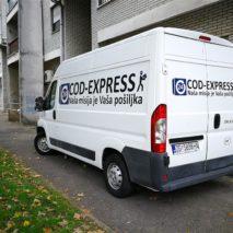 Oslikavnaje vozila kombi -COD Express