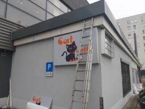 Cat caffe - Svjetleća reklama zagrebačka cesta