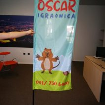 Kockasti beach flag - Oscar