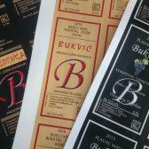 samoljepljiva naljepnica ricana etiketa vino