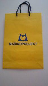 mašino projekt žuta papirnata vrečica