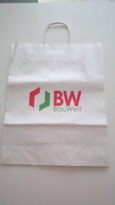 Bijela natron vrećica, dotisak loga firme obostrano