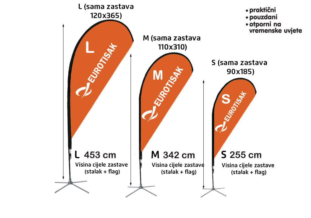 Fly stalak, fly banner, drop banner, beach flag, zastava za plažu