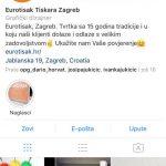 Eurotisak na Instagramu
