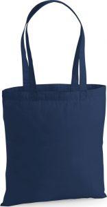 platnena torba plava duga ručka
