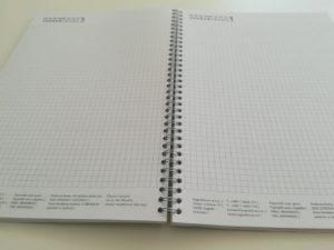 Blok za pisanje - print kockice - spirala