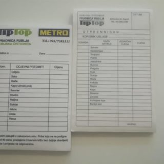 NCR radni nalog - metro