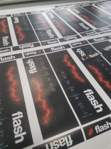 PVC naljepnice - Flash rent a romobil 2