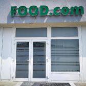 Food com - pjeskarena folija oslikavanje izloga