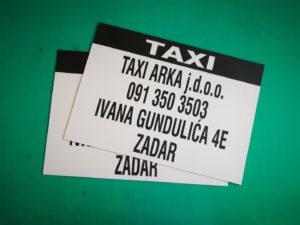 Taxi - magnetna naljepnica
