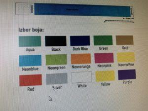 Tyvek narukvice - boje