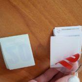 Naljepnice sa bijelom podlogom