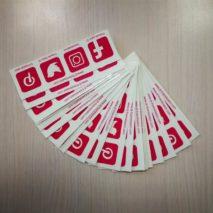 PVC naljepnice društvene mreže