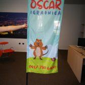 Kockasti beach flag - Oscar