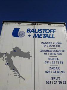 Rezana slova kamion - Baustoff metal