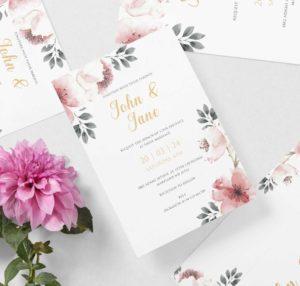 Digitalni zlatotisak - Pozivnice z vjenčanja