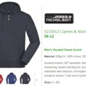 James Nicholson majica sa kapuljačom i cifom