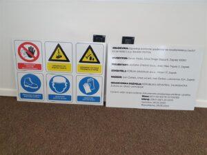 Ploča za gradilište - Naziv i signalizacija