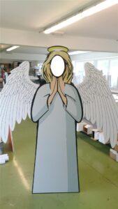 SAMOSTOJEĆI STALAK anđeo ili likovi u prirodnoj veličini