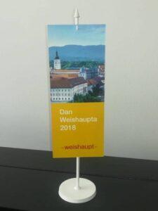 Stolna zastavica na plastici - Weishaupt