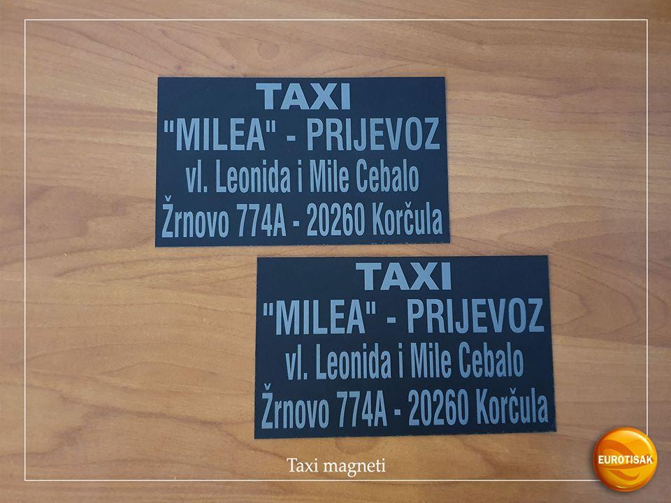 Taxi magnetne naljepnice