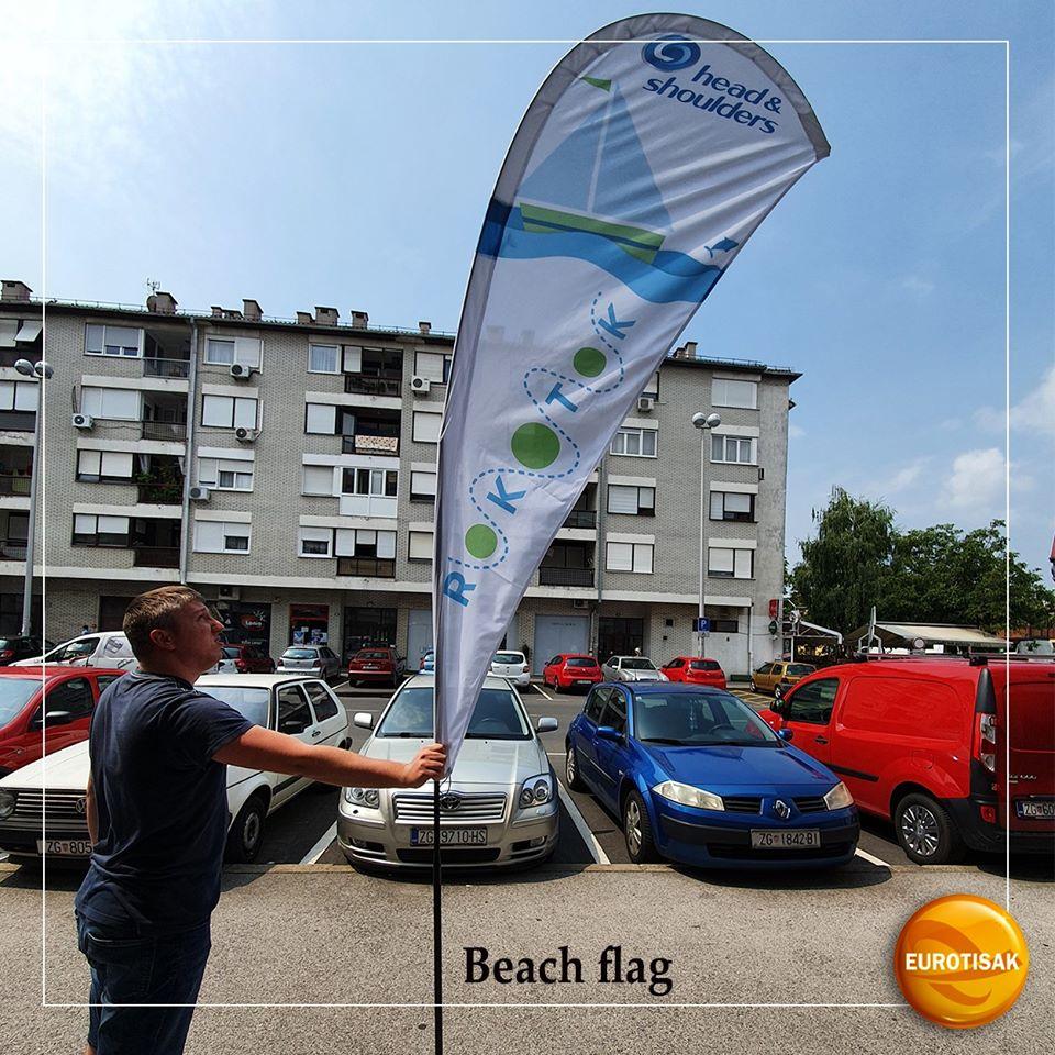 Tisak na beach flag