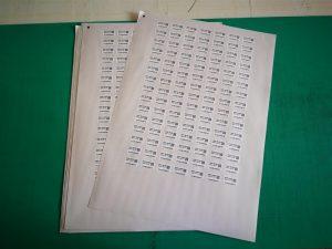 Strojno rezane naljepnice numerirane qr code