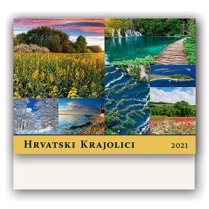 13 lisni zidni kalendar 33x49 cm