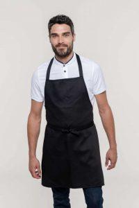 Crna pregača za kuhare