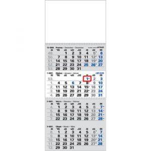 zidni kalendar 4 djelni,2 spirale, 29x50, vrečica