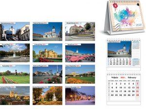 Kalendar stolni ZAGREB 12l 17x14+3 spiral