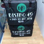 Platnena torba za dostavu - Bistro 49