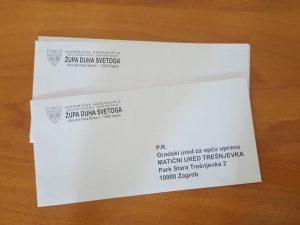 Kuverte - Župa duha svetoga