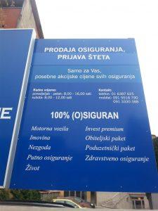 Svjetleća reklama plexi kutija - Croatia osiguranje 2