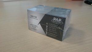 Vakumiranje - vizitke PAP Promet