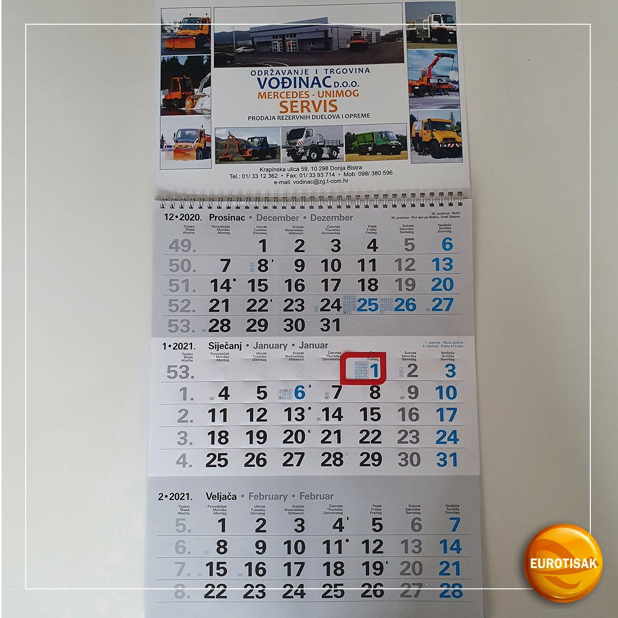 Izrada zidnih kalendara