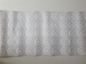 Uv print bijela naljepnica