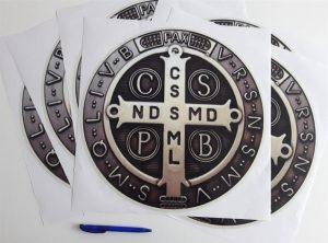 print and cut - okrugla naljepnica sv.benedikt