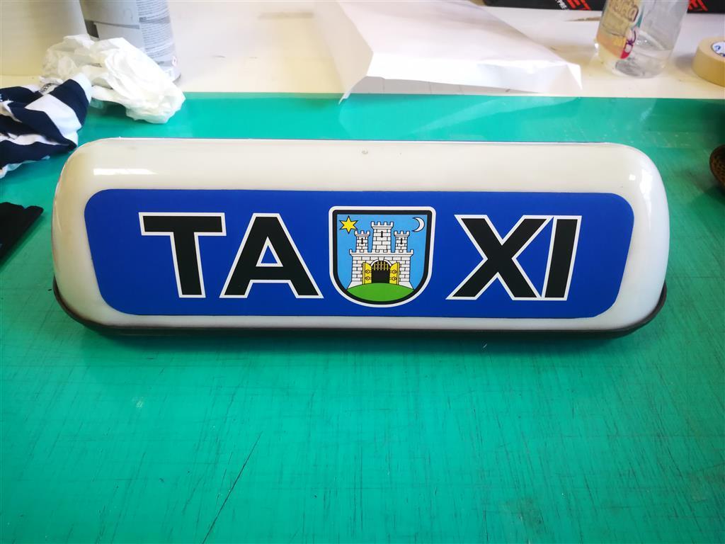 Taxi oznaka krovna naljepnica