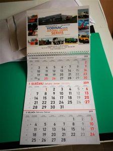 Zidni trodjelni kalendar - Vođinac