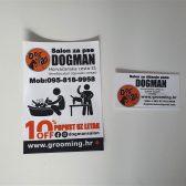 Letak i vizitke -Dogman salon za pse