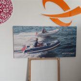 Canvas platno s drvenim okvirom - Brodovi