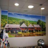 Oslikavanje showrooma- Zidna naljepnica