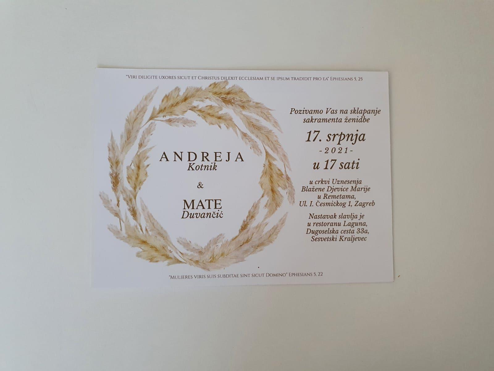 Read more about the article Pozivnice za vjenčanje